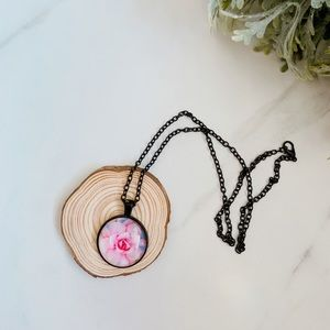 Jewelry - Pink lotus necklace